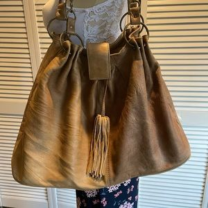 Tasha Polizzi Distressed Conac Leather Bag